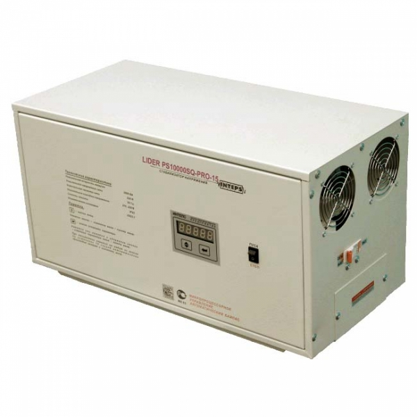 Однофазный стабилизатор Lider PS 10000SQ-PRO-15