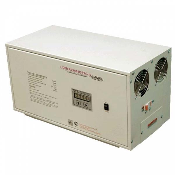 Однофазный стабилизатор Lider PS 3000SQ-PRO-15