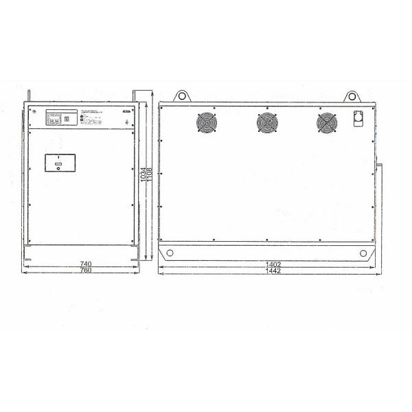 Однофазный стабилизатор Lider PS 75000SQ-I-25, габариты
