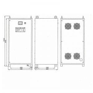 Однофазный стабилизатор Lider PS 75000SQ-I-15, габариты