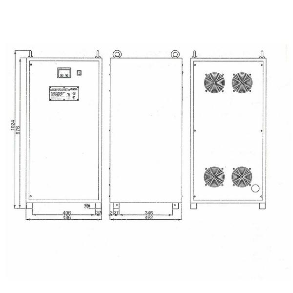 Однофазный стабилизатор Lider PS 50000SQ-I-25, габариты