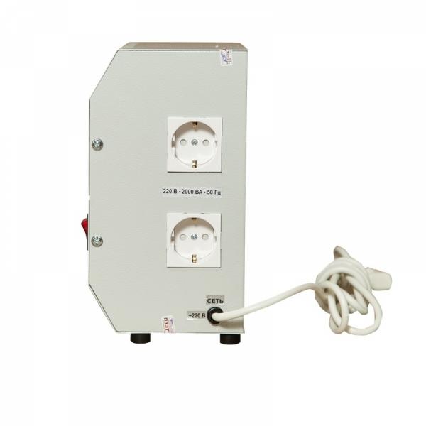 Однофазный стабилизатор Lider PS 2000W-30, подключение